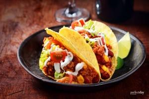 Tacos mit Chili on Carne